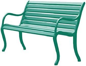 Fast Oasi Banco de jardín 2 asientos cm. 127 Art. 592 Color Verde Oscuro: Amazon.es: Hogar
