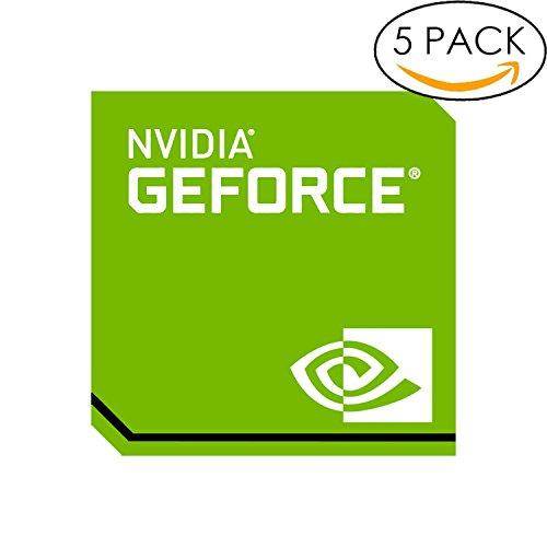 5x Original NVIDIA Geforce Sticker 17.5mm x 17.5mm with Authentic (Gtx 750 Ti Ftw)