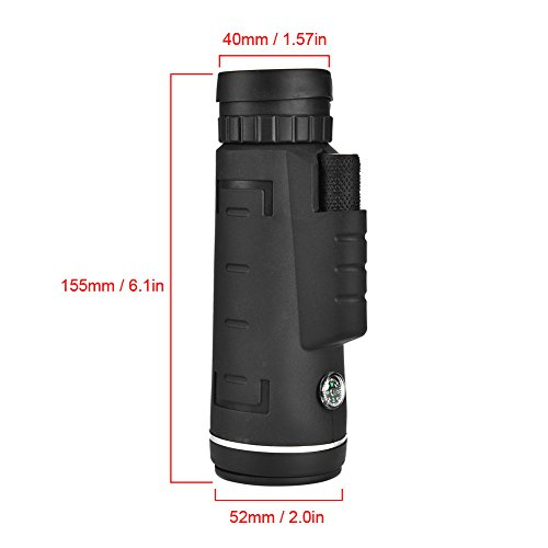 3ab0b9fefe25 Alomejor Monocular Telescope 40Times Phone Monoculer with Phone Clip Tripod  Lanyard for Birdwatching Hunting Hiking Camping Sightseeing