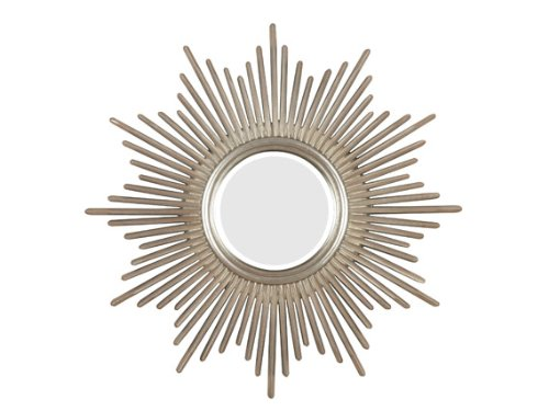 Kenroy Home Reyes Wall Mirror with Antique Silver Finish, 36-Inch Diameter (Mirror Round Silver)