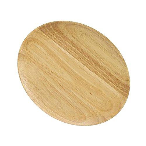 MonkeyJack Wooden Oak Plate Wood Serving Tray Food Dish Snacks Platter Kitchenware - Brown, L ()