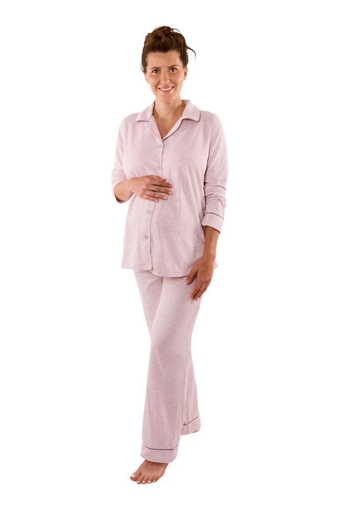 Belabumbum Classic Lounge Chic 2-pc. PJ Set - L/XL - Pink Marle