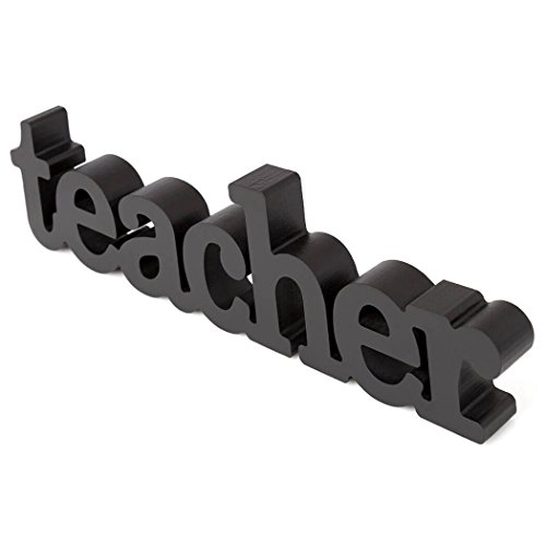 ChalkTalkSPORTS Teacher Wood Word with Pen | Decorative Class & Graduation Gift | Room, Shelf and Desk Décor | Ready to Sign