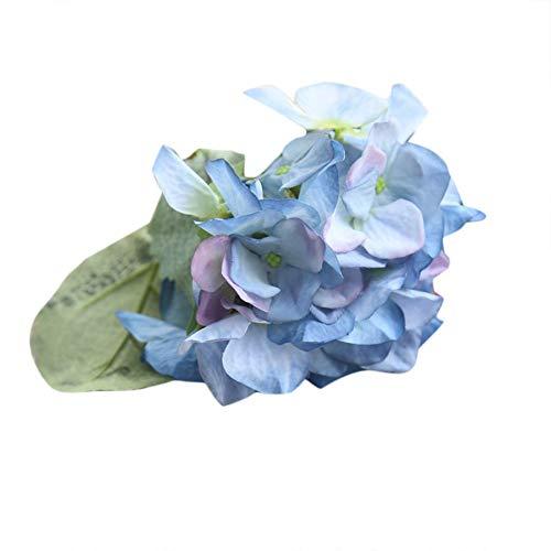 VOWUA Artificial Flowers Natural Full Bloom Silk Flowers Hydrangea Floral Wedding Bouquet Party Decor ()