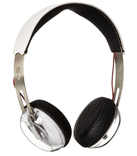 Skullcandy Grind On-Ear Headphones with Built-in Mic, White, Black and Red (Certified Refurbished)