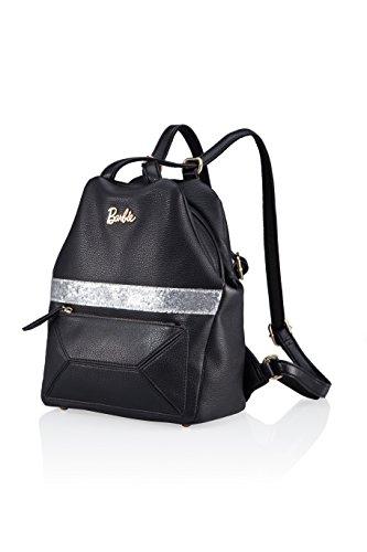 Vogue en Fashion à Barbie la Simple de Individualité Mode Noir en Loisir Femmes BBBP075 Style Cuir Filles 01A PU Irrégulier Dos série Sac de 66WUq7r