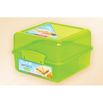 2 X Sistema Klip It Lunch Cube Container - Assorted Colors Sold Separately