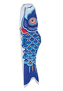 In the Breeze Koi Fish Windsock, 60-Inch, Blue