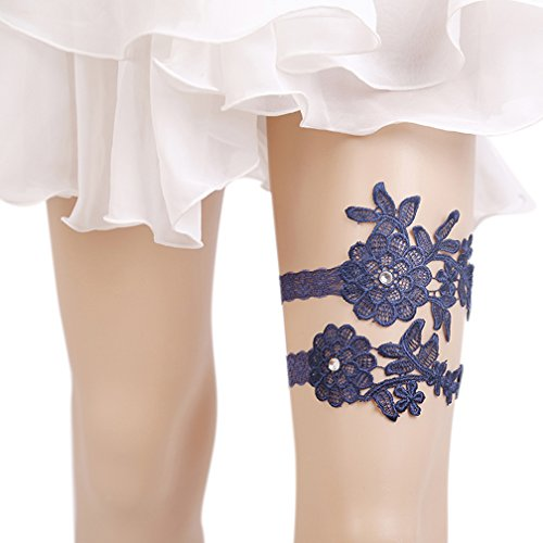 Eliffete Sexy Lace Garter Navy Garter Set For Sex Wedding Bridal Lace Leg Garter
