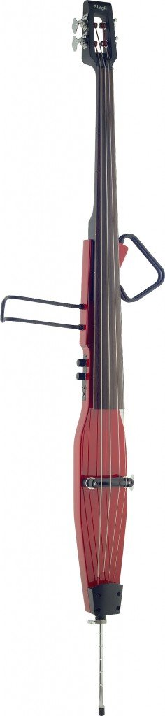 Stagg EDB-3/4RDL TR Deluxe 3/4 Size Electric Double Bass with Gig Bag Included - Transparent Red by Stagg