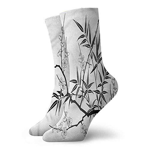 Street Style Sock Modern,Japanese Sakura Cherry Bloom 3.4