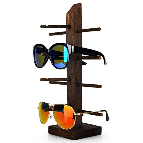 Wood Wenge Sunglass Dispaly Holder Glass Display Stand Glass Display Showcase (4-Layer)