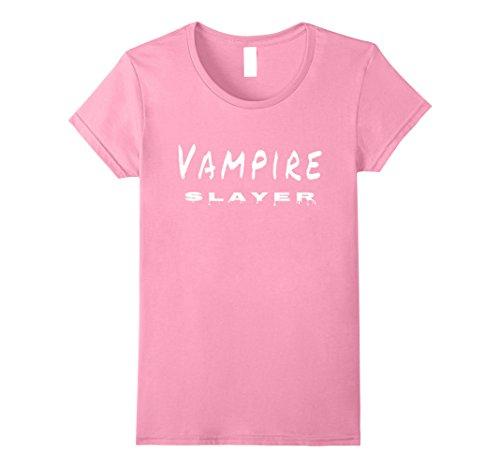 Vampire Slayer Costume Female (Womens Vampire Slayer T Shirt Small Pink)