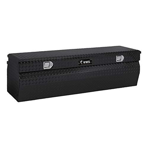 UWS EC20232 42-Inch Gloss Black Aluminum Wedge Truck Storage Box