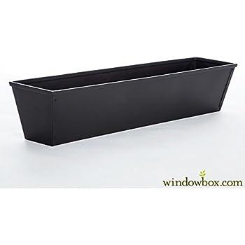 "Southern Patio 36/"" Medallion Window Box Black"