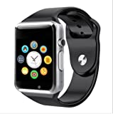 Xiaomi Redmi Note 4 2GB RAM Compatible Bluetooth Smart Watch supports 3G, 4G Phones Wrist Watch Phone with Camera & SIM Card Support Hot Fashion New Arrival Best Selling Premium Quality Lowest Price with Apps Touch Screen, Multi Language with Android Ios mobile tablet iphone Silver By JOKIN