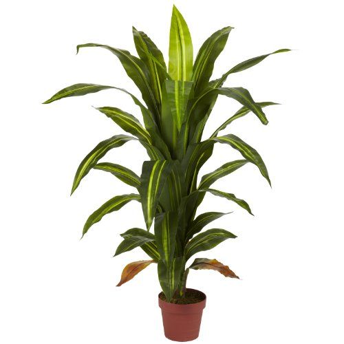 - Nearly Natural 6650 Dracaena Decorative Silk Plant, 4-Feet, Green