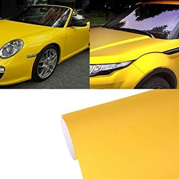 Uniqus 7.5m  0.5m Grind Arenaceous Auto Car Sticker Pearl Frosted Flashing Body Changing color Film for Car Modification and Decoration(Yellow)