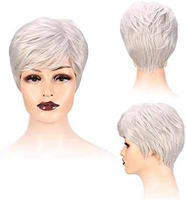 Short Wigs For Women With Bangs Very Natural Side Part Hair Wigs Cheap Heat Resistant Straight Hair Wigs Look Real For Women White Buy Online At Best Price In Uae Amazon Ae