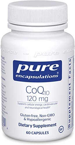 Pure Encapsulations - CoQ10 120 mg - Hypoallergenic Coenzyme Q10 Supplement - 60 Capsules