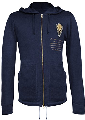 Musterbrand World of Warcraft Men Knit Cardigan Valour of The Alliance Blue