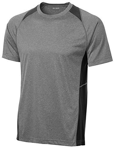 (DRI-Equip Short Sleeved Performance Baseball Team Shirt-2XL-Black Heather)