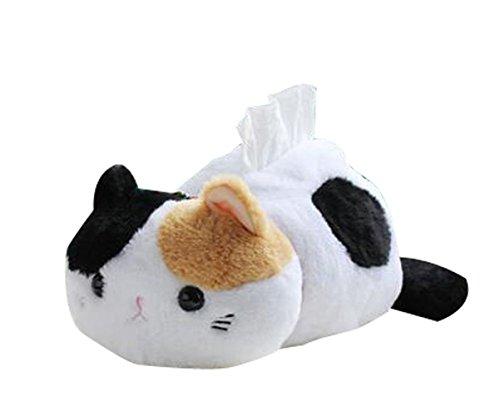 CHOOLD Cute Cartoon Animal Cat Tissue Box Plush Cover Paper Holder Napkin Box for Car Home Bathroom Kitchen Office