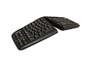 KeyOvation Goldtouch Adjustable Keyboard - USB - QWERTY - Black