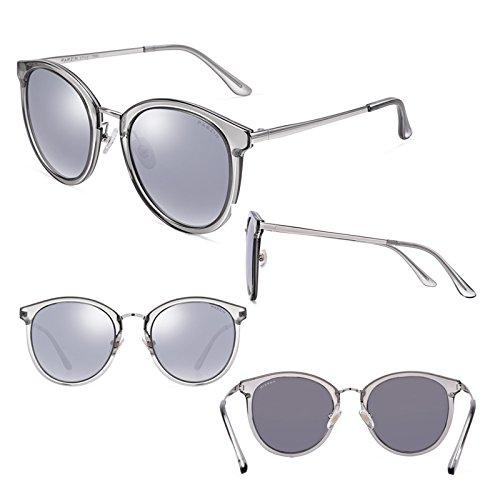 Miroir Girl Conduite de 2DAWANG Élégant Gray Tide Nouvelle Lunettes Cadre de Essence Soleil Mode Rétro Grand nfF17qT