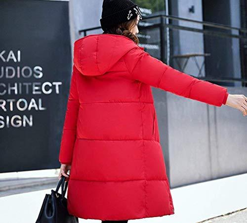 Maniche Tempo Piumino Libero Piumini Transizione Trapuntato Grazioso Fashion Caldo Cappotto Eleganti Taglie Cappotti Lunga Trapuntata Lunghe Forti Giacca Invernali Donna Fit Incappucciato Slim Rot ABwZf40