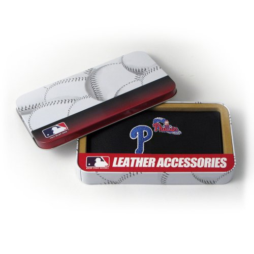 MLB Philadelphia Phillies Embroidered Genuine Cowhide Leather Checkbook (Philadelphia Phillies Mlb Leather)