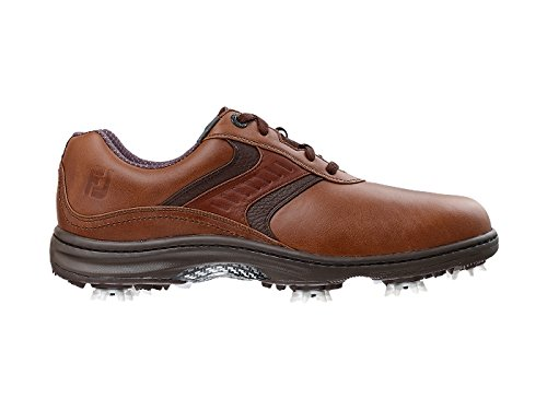 FootJoy 2016 Men's Contour Plain Toe Saddle Golf Shoes, Previous Season Styles (12 D(M) US, Brown)