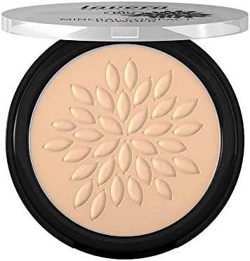 Lavera Natural Mineral Compact Bio Powder (Ivory #01), Fix Concealer and Foundation (For Those With Fair to Medium Skin Tones) 7g/0.23oz