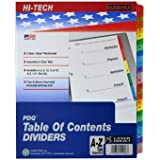 Kleer-Fax PDQ Table of Contents Dividers, 26 Tab - A Through Z, One Set, Assorted Colors (41926)