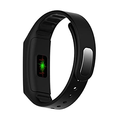Fitness Tracker,FIT-FIRE Wireless Smart Wristband Activity Tracker Heart Rate Monitor Fitness Tracker Bands (Black)