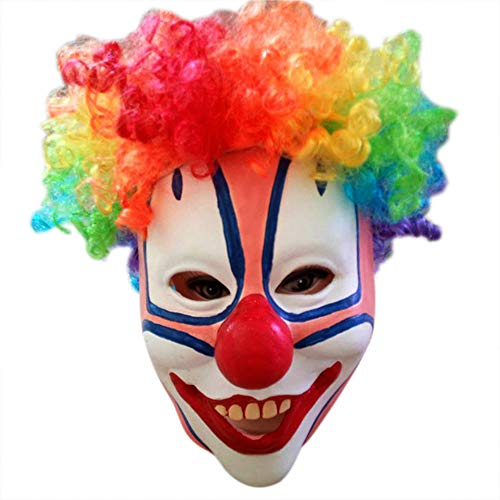 Halloween Men's Smiffy Latex Costume Cosplay Scary Clown Mask (Picture -