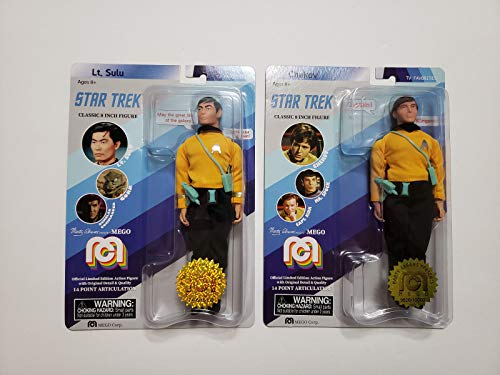 "Mego 2018 Classic 8"" Star Trek Limited Edition - Lt Sulu and Checkov Action Figure Set of 2"