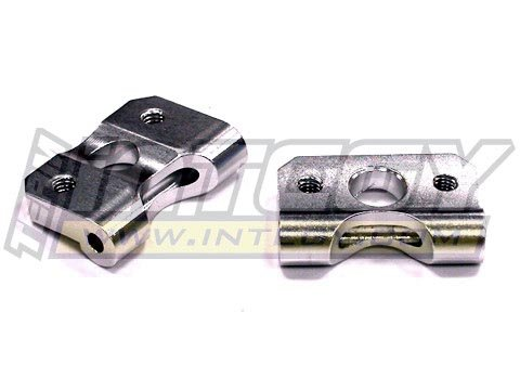 Integy RC Model Hop-ups T6776SILVER Alloy Rear Suspension Arm Mount for Nitro Stampede 2WD