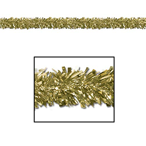 Metallic Garland Christmas Festooning Gold, Gleam N Fest Metallic Garland, Pack 12
