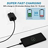USB C PD Charger, 25W Fast Power Adapter and Type C Cable Compatible with Samsung Note 10 / Plus / S20 / S9 S8/ S10e / S10 5G Ultra, Google Pixel 4 3 2 3A / Pixel 2 XL 3XL 4XL, iPad Pro 12.9, 11