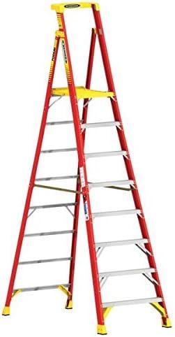 Fibra de vidrio podio escalera, 10 peldaños – acceso equipo – escaleras: Amazon.es: Oficina y papelería