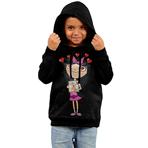 Toddler Funny Quotes Isabella Garcia-Shapiro 100% Cotton Long Sleeve Hoodie Black US Size 2 (Phineas And Ferb Agent P Hoodie)