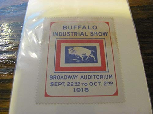 BUFFALO INDUSTRIAL SHOW, 1915, poster stamp, VERY RARE