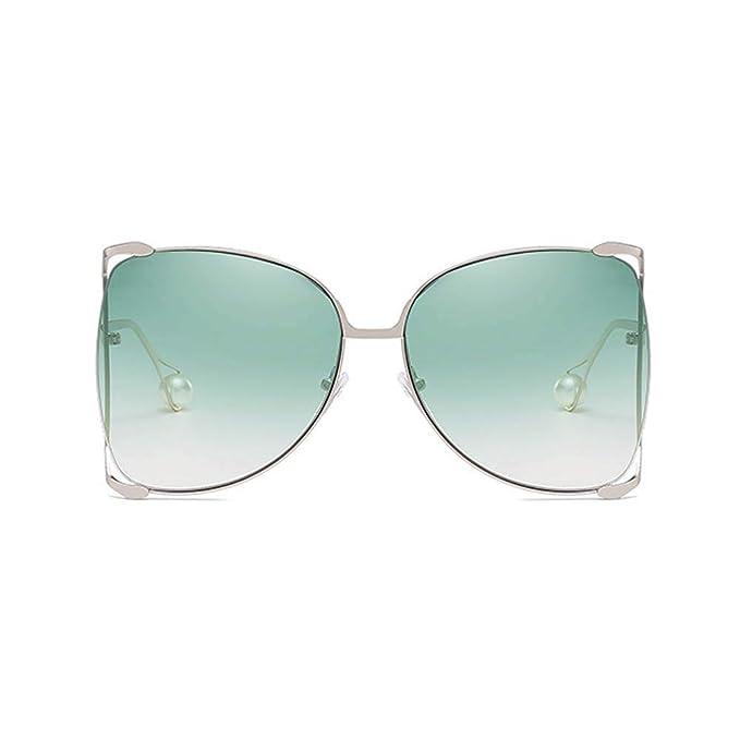 Amazon.com: Gafas de sol de gran tamaño semi sin montura ...