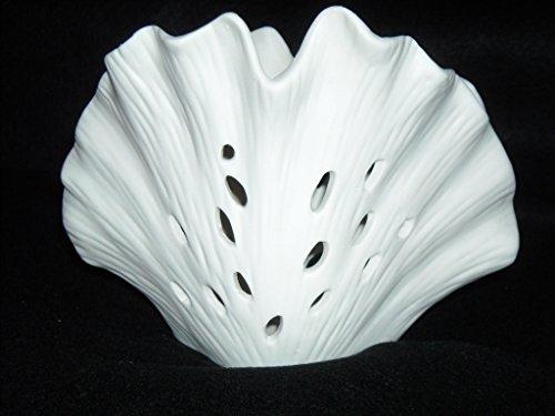 (Biedermann & Sons Porcelain Scallop Shell Tealight Holder)