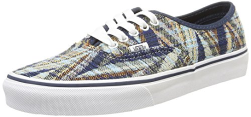 Vans Authentic Woven Chevron Ankle-High Canvas Fashion Sneaker
