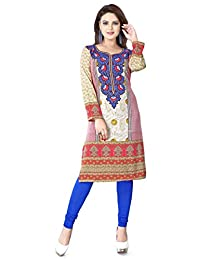 Womens Long India Tunic Top Kurti Printed Blouse Indian Clothing