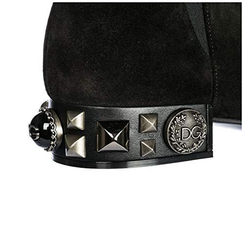 À En Gabbana Noir Demi amp; Talon Napoli Daim Femme Dolce Bottes UXwxPfnB
