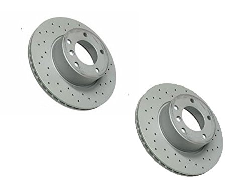 BMW e39 (6cyl) Brake Disc Front CROSS Drilled (x2 Rotors)
