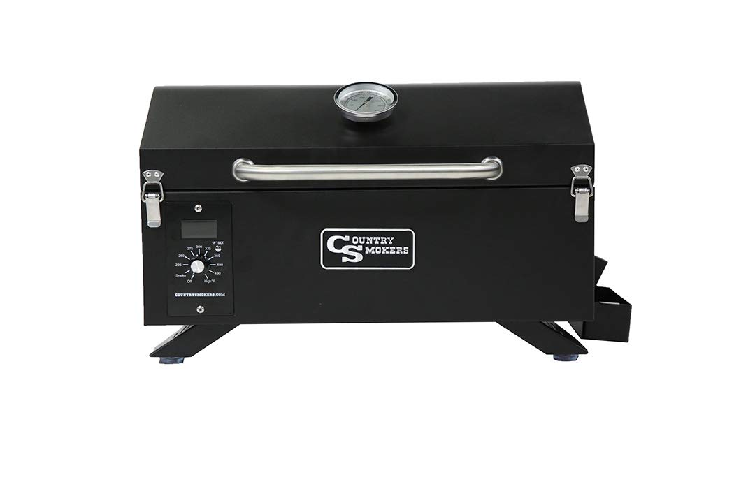 Country Smokers CSPEL015010497 Wood Pellet Grill and Smoker, Black by Country Smokers